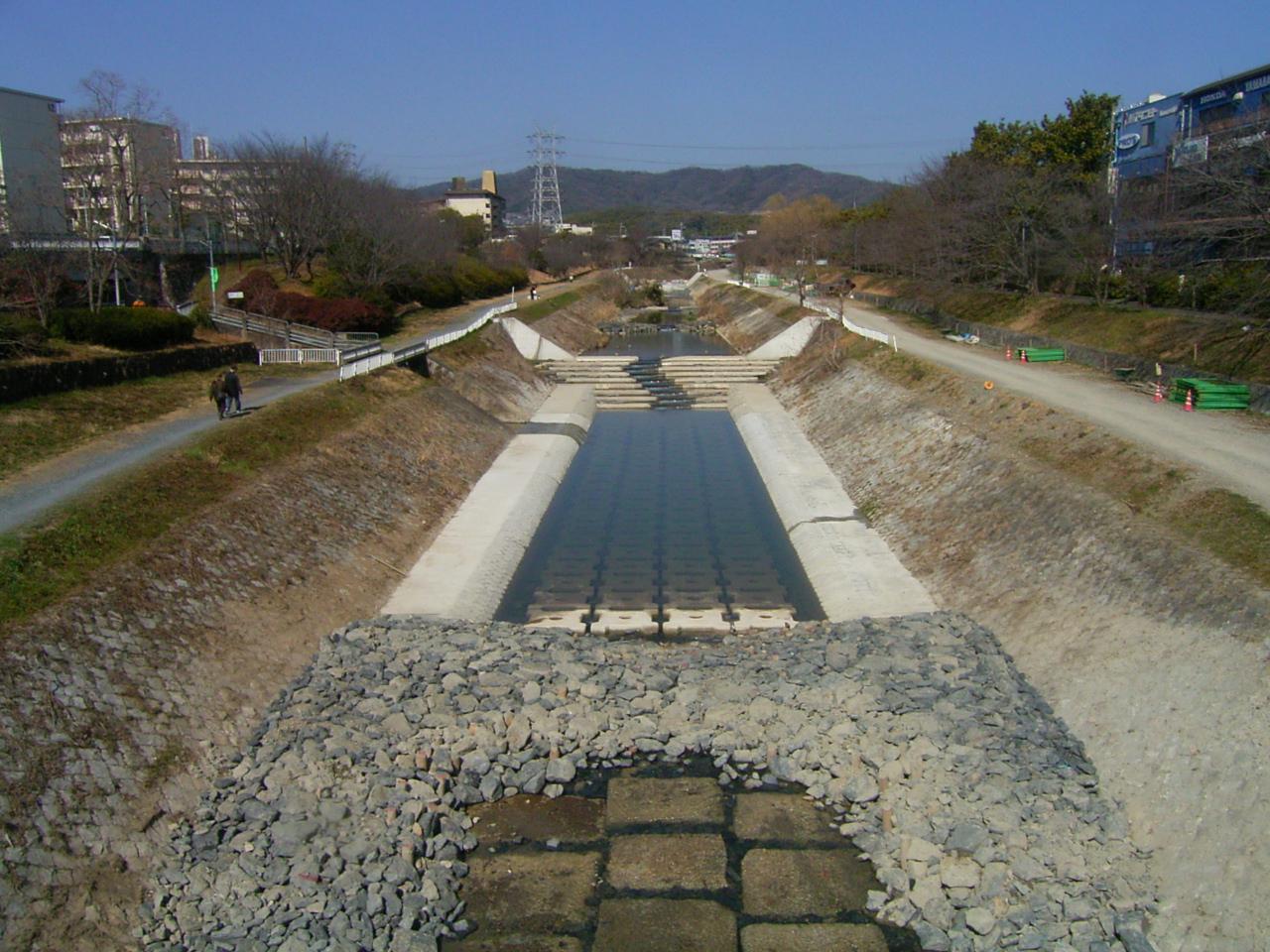 平成21年度 小畑川(桂川支川)緑の河川復活整備工事